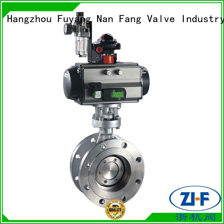 Nanfang custom butterfly motorized valve supplier chemical fiber