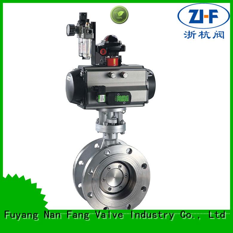 Nanfang oem butterfly motorized valve valve LNG
