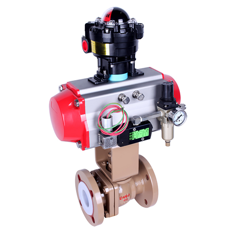 Lined Ball Valve Pneumatic / Electric operated Lined Ball Valve