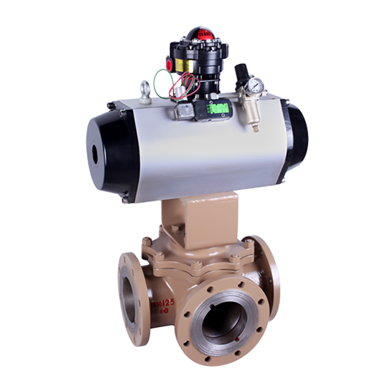 Three Way Ball Valve Pneumatic/ Electric/Manual Operated Ball Valve