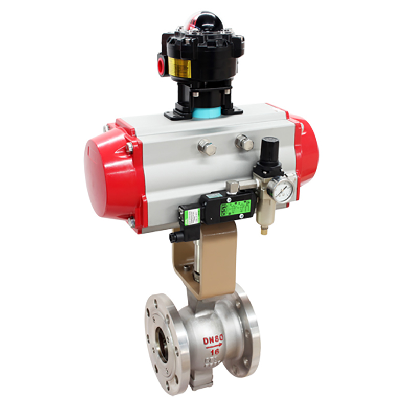 Pneumatic/Electric Operated Ball Valve V Port Ball Valve