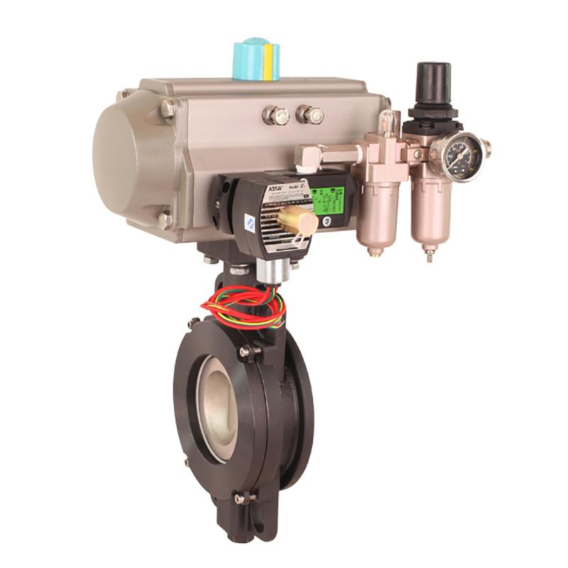 electric butterfly valve & pneumatic actuators