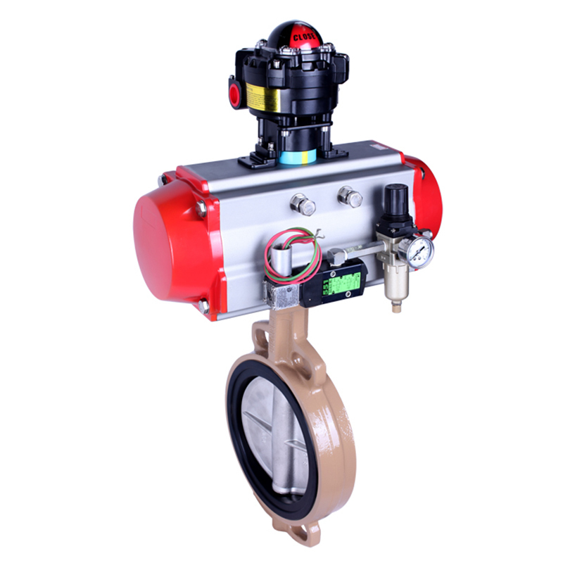 Lined Rubber/ Fluorous rubber Butterfly Valve with Manual/Pneumatic/Electric Actutaor