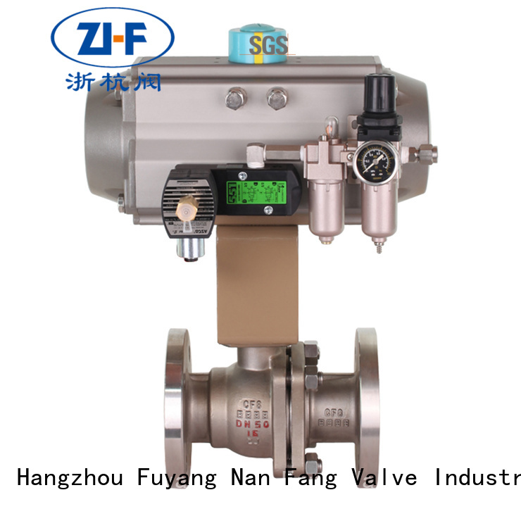 Nanfang motorised ball valve machine global oil refining