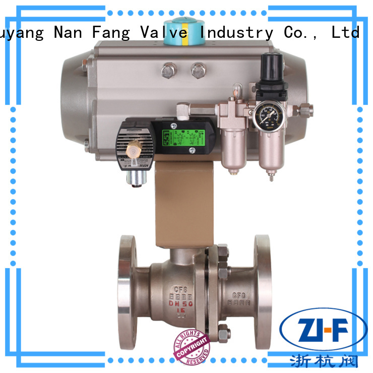Nanfang motorized pneumatic actuated ball valve supplier global oil refining