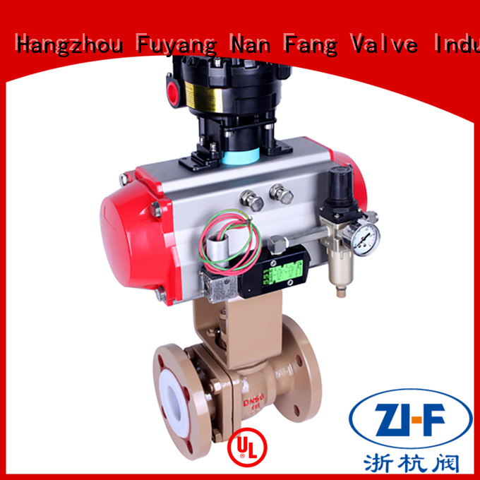 Nanfang air operated ball valve supplier global oil refining