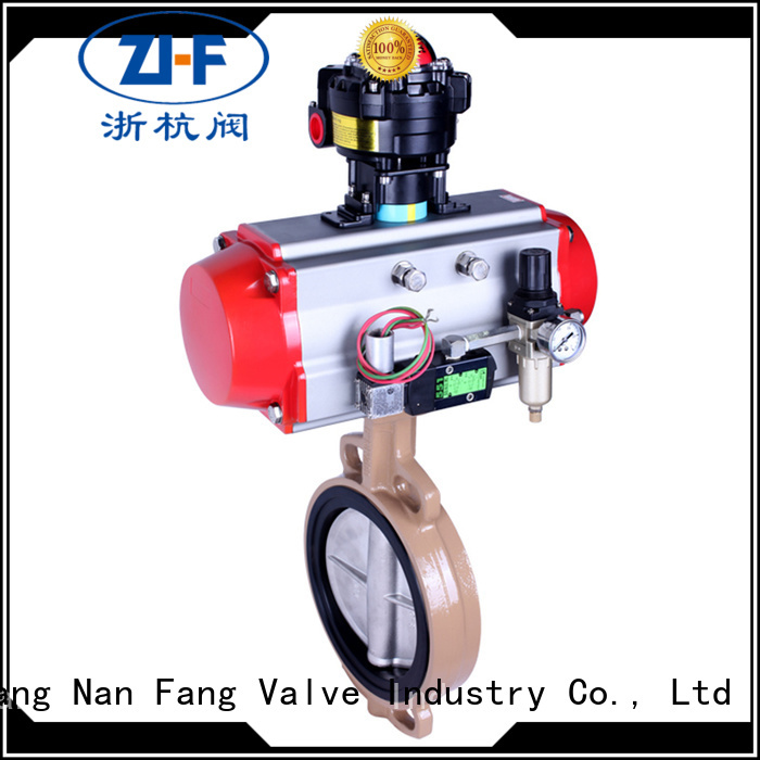 Nanfang air actuated butterfly valve machine papermaking