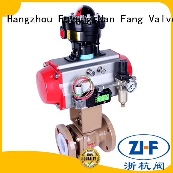 motorized air operated ball valve supplier chemical fiber