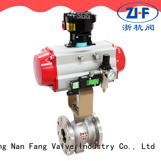 industrial electric actuated ball valve supplier chemical fiber
