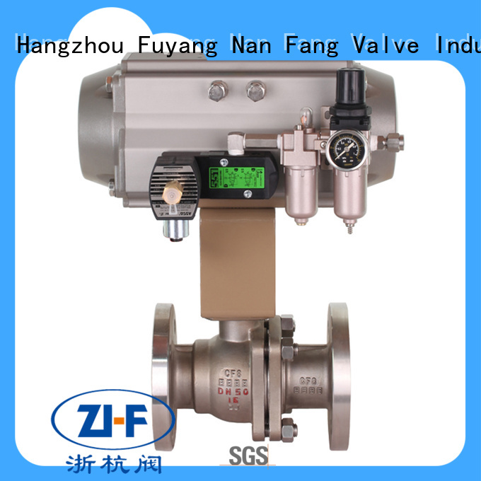 industrial pneumatic actuated ball valve supplier chemical fiber