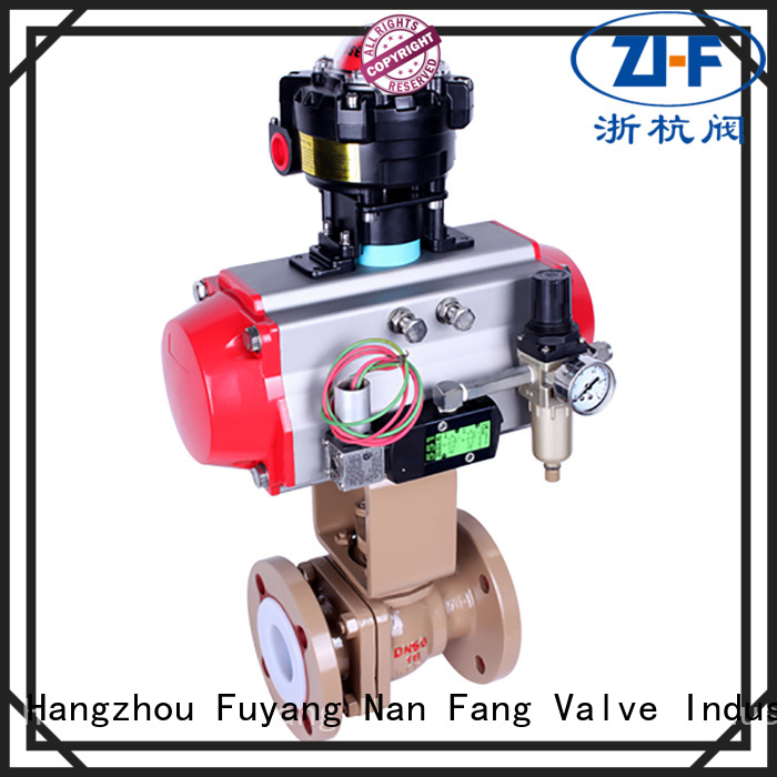 Nanfang pneumatic actuated ball valve manufacturer coal chemical
