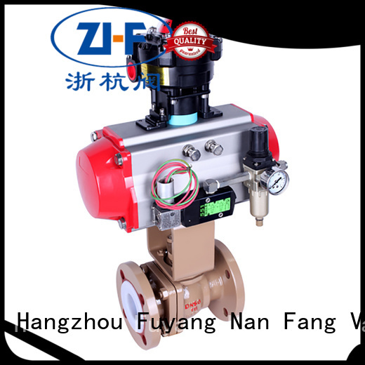 Nanfang pneumatic actuated ball valve supplier LNG