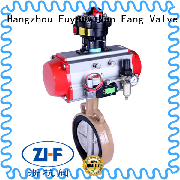 Nanfang air actuated butterfly valve tool chemical fiber
