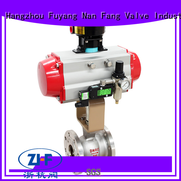 Nanfang motorized pneumatic actuated ball valve manufacturer fine chemicals