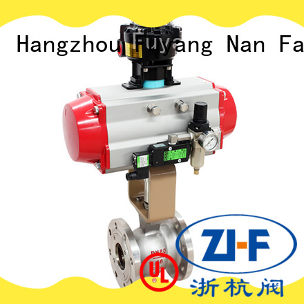 Nanfang safe trunnion mounted ball valve chemical fiber