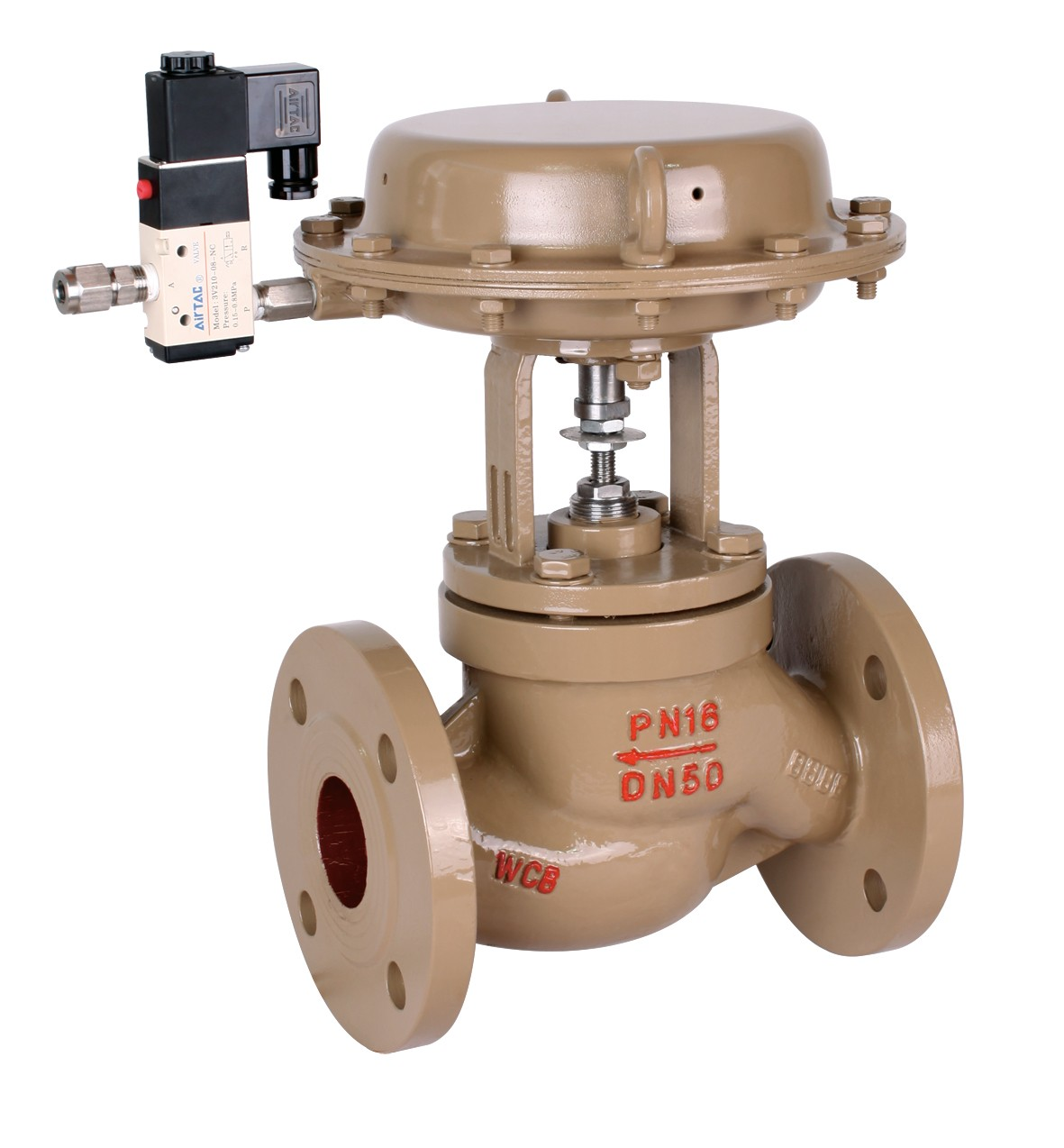 Pneumatic operated quick shut-off valve