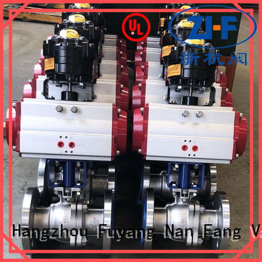 Nanfang electric actuated ball valve machine global oil refining