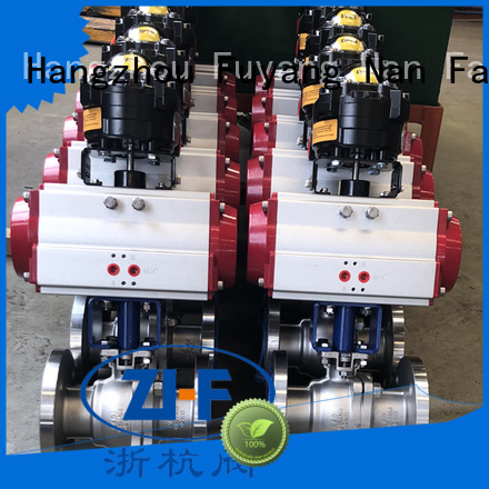 industrial pneumatic actuated ball valve supplier coal chemical